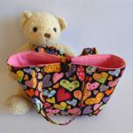 Colourful hearts bag, Girls love heart handbag,