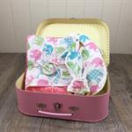 Elephant baby gift set - Blanket, bib & teether - Baby girl - Baby shower gift