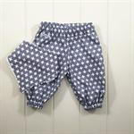 Swiss cross grey baby gift set - Size 000 harem pants & bandana bib