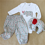 arrows gift set | harems + onesie + elephant toy | newborn baby boy