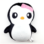 Penguin Rattle Pink and Black