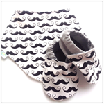 Moustache Baby Shoes & Bandanna Gift Set