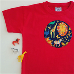Wild Animals - Appliqued Tshirt - Size 6. Ready to post.