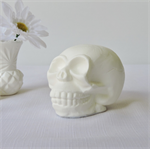 SKULL SUNDAY - funky white skull ornament hand cast from resin