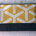 Verona Purse with yellow and white contemporary feature pattern