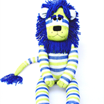 'Leyland' the Sock Lion - *ready to post*