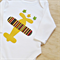 Plane appliqued boys onesie. Baby boys onesie. Aeroplane all in one,
