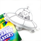 Colour Me Alien UFO Toy with Washable Markers