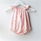 Apricot / Peach & Gold Rosemilk Baby Play Suit / Romper