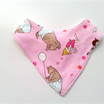 Bears on pink Bandana bib