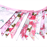 Vintage Retro Pink MULTI Floral Flag Bunting. High Tea Party , Home Decoration
