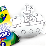 Colour Me Pirate Ship Toy with Washable Markers