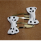 Cute Baby/Infant White & Black Polka Dot Ribbon Bow Clips