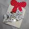 Cute Baby/Infant White & Black Polka Dot Ribbon Flower Clips