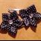 Cute Baby/Infant Black & White Polka Dot Ribbon Flower Clips