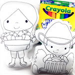 Colour Me Farm Boy and Farm Girl with Washable Markers