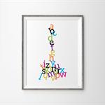 Alphabet Jumble Print - Colour