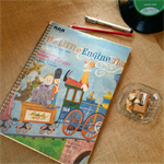 The Little Engine That Could Upcycled Album Cover Lined Notebook