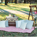 Salmon Picnic Blanket- large with double filling