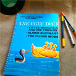The Ugly Duckling Upcycled Album Cover Notebook