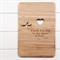 Custom bamboo card moon and back - laser cut and etched bamboo ply wood card