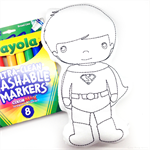 Colour Me Superhero with Washable Markers