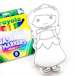 Colour Me Princess with Washable Markers