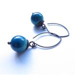 Georgia Enamel and Copper drop earrings by Sasha + Max Studio