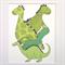 "Dinosaurs Illustration Print.  8x10"" / A4"