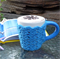 Mug cozy, coffee cosy, cup warmer | royal blue, birthday, teacher gift, Mum, Dad