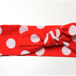 2 years - adult knot headband, red/white spot