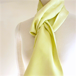 Silk scarf in citrus: recycled from vintage kimonos.