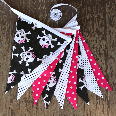 Pink Pirate Sparkle Bunting