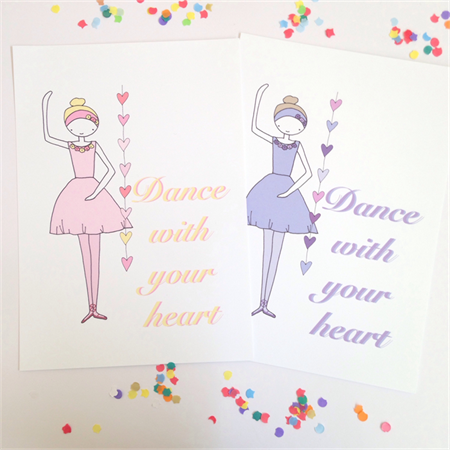 Dance With Your Heart Illustration Print.  A3
