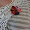 Japanese Kimono fabric Floral Brooch
