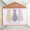 Happy Father's Day Card|Personalise with name |Yellow & Grey Tie| DAAD005