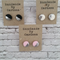 Polymer clay Earrings with  Silver. 1 Pair