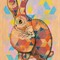 Patchwork Rabbit - A4 Giclée art print on HAHNEMUHLE photo rag paper