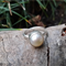 Bezel Set Freshwater Pearl and Sterling Silver Ring
