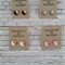 Polymer clay Earrings with Rose Gold/Copper. 1 Pair