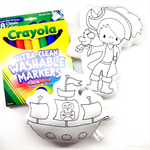 Colour Me Pirate and Pirate Ship with Washable Markers