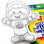 Colour Me Astronaut with Washable Markers
