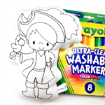 Colour Me Pirate with Washable Markers