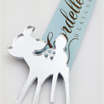 Laser Cut Mirror Acrylic Deer Brooch