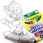 Colour Me Astronaut and UFO with Washable Markers