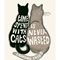 Cat Print - Cat Art - Cat Lovers Quote - Time Spent with Cats - A4 print