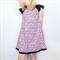 Paris Patterned Flutter Sleeve Peasant Dress, 100% Cotton, Size 1