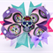 Bella 'Sugarskull' Bow in Pink, Purple & Mint