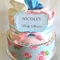 Shabby Chic nappy cake - pink/blue - 2 tiered
