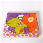 Find a Penny Purses - Purple & Orange retro daisy flower festival.